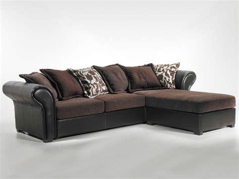 canapé d angle tissu marron canapé d 39 angle tissu quot kashmir quot 4 places marron 38682 38683