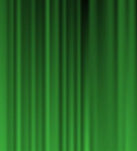 green curtains green stage curtain
