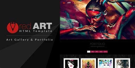 artist website templates html portfolio gallery website template by buddhathemes