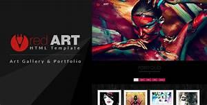 red art html portfolio art gallery website template by With art gallery html template