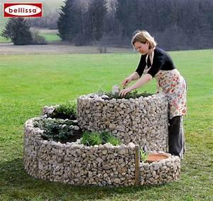 Jardiniere spirale xxl en gabion avec galets for Amenager un jardin en longueur 6 jardiniare spirale xxl en gabion avec galets