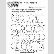 Free Counting Worksheet  Free Kindergarten Math Worksheet For Kids