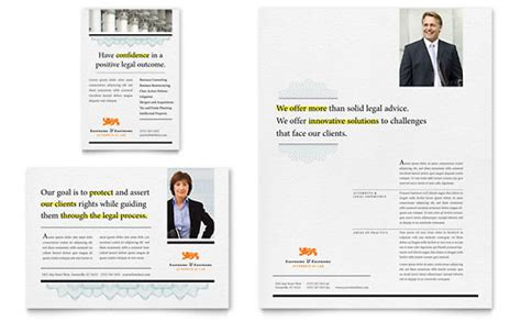 attorney brochure template word publisher