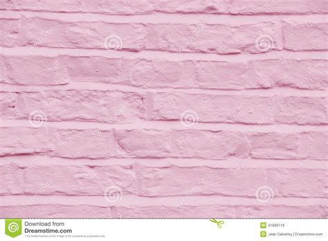 home exterior design upload brick wall painted a pretty pink color background stock