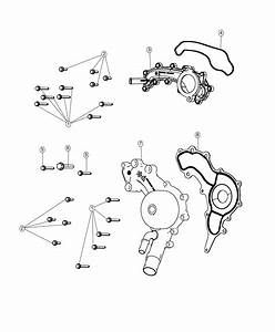 2018 Jeep Wrangler Pump  Water  Engine  Cover  Cooling
