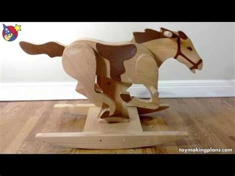wood toy plans mustang rocking horse youtube