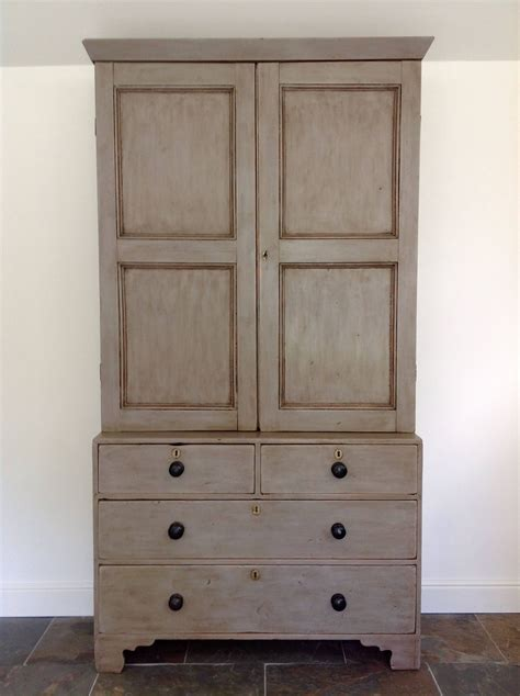 Armoire Linen Cupboard by Painted Antique Housekeepers Armoire Wardrobe Linen