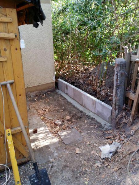 l steine oder betonmauer l steine als rand oder begrenzung setzen bauanleitung zum selberbauen 1 2 do deine