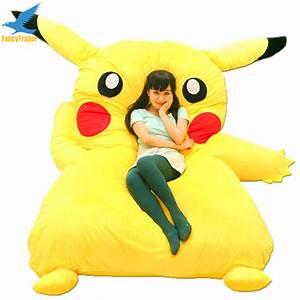 Fancytrader-Japan-Anime-Stuffed-Giant-Pikachu-Plush-Bed ...