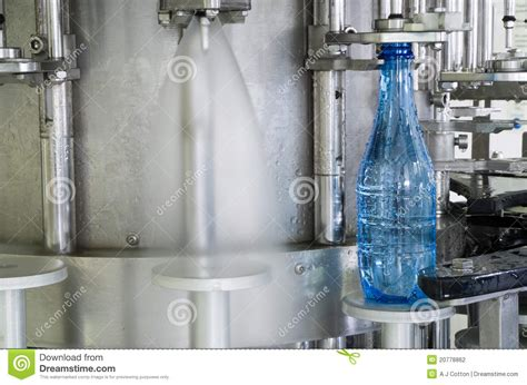water bottle production machine stock photography image