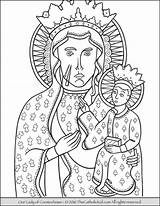 Coloring Lady Pages Czestochowa Catholic Mary Guadalupe Thecatholickid Children Kid Lourdes Colour Sheets Sorrowful Books Printable Dog Christian Games sketch template