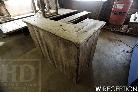 reclaimed wood reception desk reclaimed wood reception desk 4536