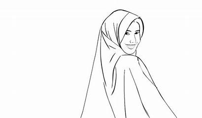 Gambar Mewarnai Bercadar Wanita Nussa Yang Kartun