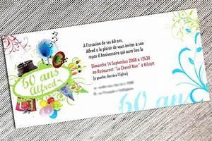 Faire Part Anniversaire 60 Ans : carte invitation anniversaire 60 ans humoristique viewinvite co ~ Melissatoandfro.com Idées de Décoration