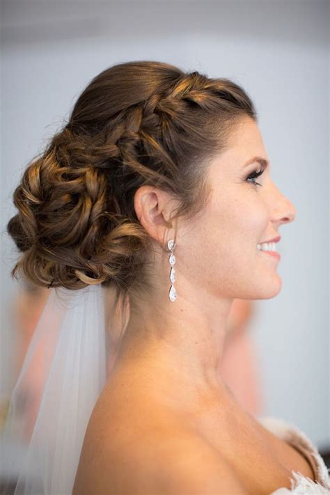 wedding hairstyle with adorable details modwedding