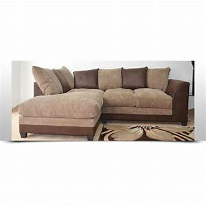 Cord Sofa : stunning brown and beige cord corner sofa left or right ~ Pilothousefishingboats.com Haus und Dekorationen