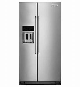 Krsc503ess kitchenaid counter depth side by side refrigerator for Kitchenaid counter depth refrigerator side by side