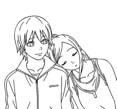 Animes enamorados para colorear Imagui