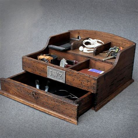 personalized rustic mens valet box