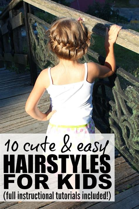 10 cute and easy hairstyles for kids easy hairstyles