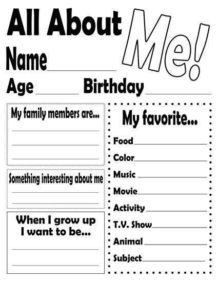 best 25 all about me ideas on