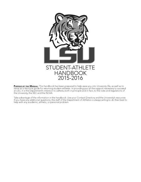 2015-16 LSU Student-Athlete Handbook by LSU Athletics - Issuu