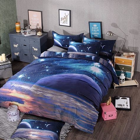 themed bed sets hipster galaxy 3d bedding set universe outer space themed galaxy print bedlinen duvet cover