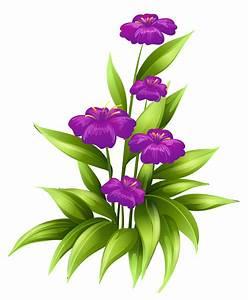 Purple Flower Clipart No Background - ClipartXtras