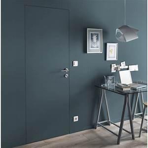Poser Bloc Porte Entre 2 Murs : bloc porte invisible valse blanc x cm poussant ~ Dailycaller-alerts.com Idées de Décoration