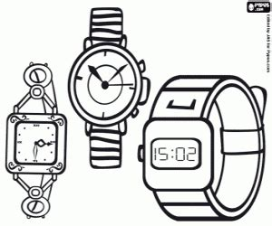 Watch And Clock Coloring Pages Printable Games
