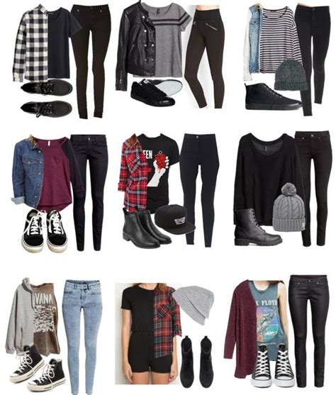Best 25+ Edgy school outfits ideas on Pinterest | Cute edgy fashion Outfits with black jeans ...