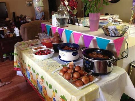 food table setup  baby shower baby shower ideas