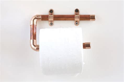 Copper Pipe Toilet Paper Holder