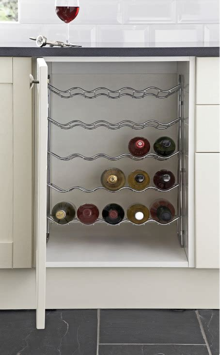 Cupboard Wine Rack by Wine Rack Five Tier Chrome Wire For Base Cabinets