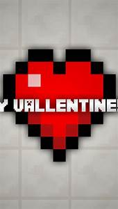 Minecraft Happy Valentine's Day iPhone 6 / 6 Plus and