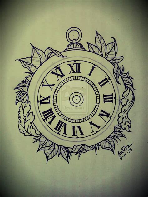 simple clock tattoos