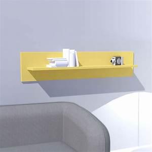 Etagere Murale Jaune : etag re murale laqu e jaune box mooviin ~ Teatrodelosmanantiales.com Idées de Décoration
