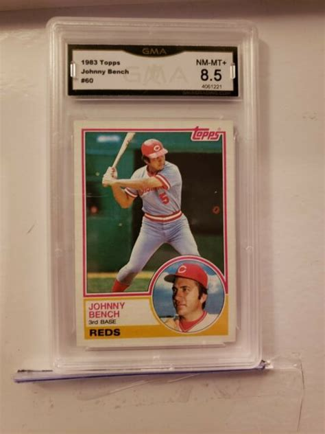 Color coordinated labels providing you with the most aesthetically pleasing cards ever seen. $80.00 Johnny Bench Graded NEAR MINT-MINT+ MLB Topps 1983 Baseball Game Card #60   eBay