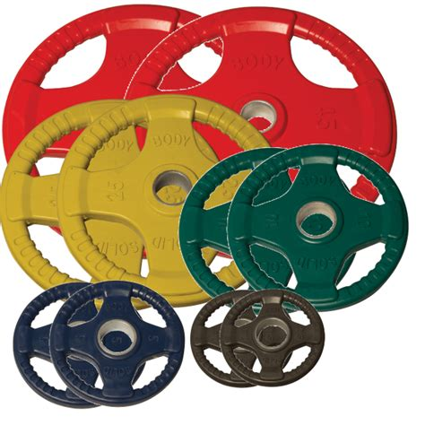 body solid orct urethane olympic grip weight plate set