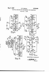 Patent Us2791644 Push Pull Amplifier With Complementary