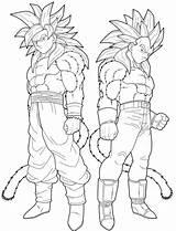 Coloring Pages Super Saiyan Goten Dragon Ball Cartoon Goku sketch template