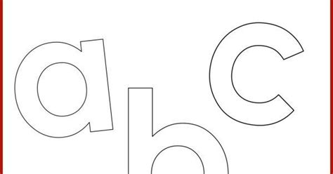 Free Printable Letters In Lowercase