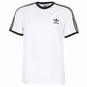Tee Shirt Adidas Original Homme : adidas originals 3 stripes tee blanc chaussure pas cher avec v tements t shirts ~ Melissatoandfro.com Idées de Décoration