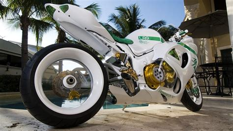 Awesome White Motorcycle Hd Wallpaper