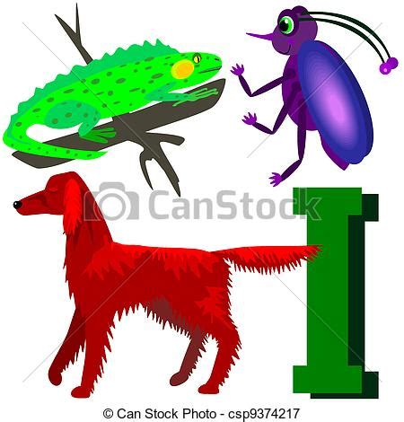 animals that start with the letter i i insect setter iguana illustrations of animals 7386