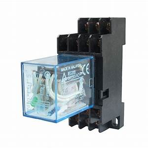 My4nj Dc 24v Coil Power Relay Din Rail Mounted 14 Pin 4pdt