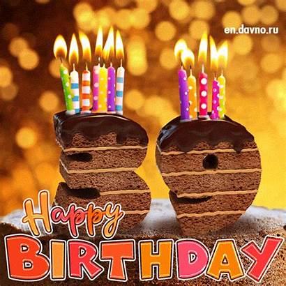 Birthday 39th 36th 37th Card Cake Candles