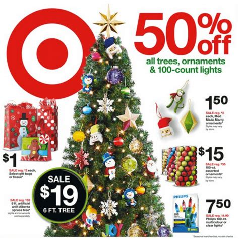 target canada 50 off all christmas trees ornaments and