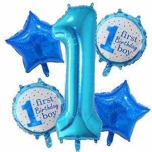 Deko Für 1 Geburtstag : deko set ballon set 1 geburtstag junge cociparties partygirlanden und deko f r jeden anlass ~ Buech-reservation.com Haus und Dekorationen