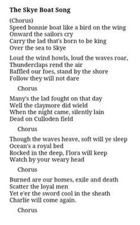 Small Boat Song Lyrics by 1000 Images About Bloody Culloden On King